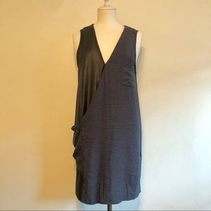 H&M Black and Blue Wrap Looking Color Block Dress